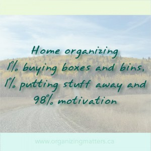 Motivation...tricky business when it comes to organizing